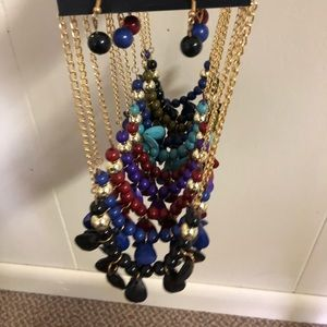 Jewelry - pebble and bead necklace